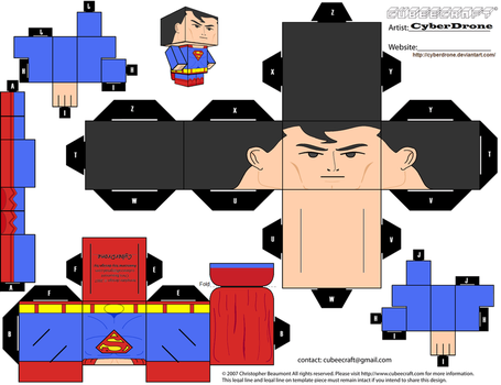 Cubee - Superman 'Justice League' by CyberDrone
