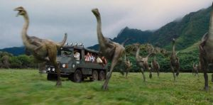 Jurassic World: Gallimimus Flock by sonichedgehog2