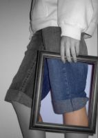 Jeans in a Frame by totallehmaddeh