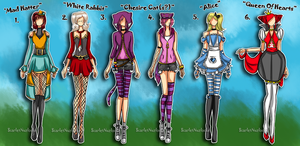Alice In Wonderland  Point Adoptables -Closed- by xXScarletStarletXx