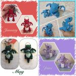 Tiny Birthstone Dragon Giveaway! by Amaze-ingHats