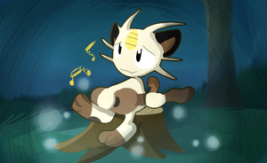 Meowth's Song by glitchgoat