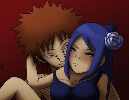 Pain and Konan by pizzaplanet