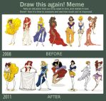 Draw this again meme Princess by LaTaupinette
