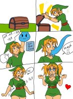 Link gets slimed (colored) by Kobi-Tfs