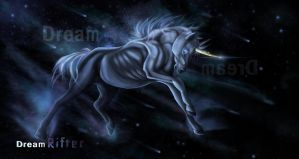 Dream Rifter:Starry unicorn concept art by Lord-FurFur