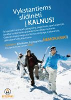 Skiing poster for work by MicroAlex