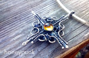 Cross necklaces by honeypunk