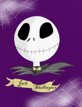 Jack Skellington Artwork for Fan Art Contest by vampireknight16
