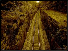 Rail carved into sandstone by PaSt1978