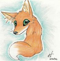 My fox is orange - square 3 by ashkey