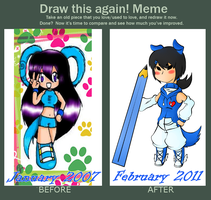 Draw this again Meme - OC by Kamira-Exe