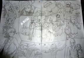Mirai Nikki Players - Traditional by AxeL-FaR