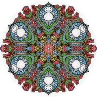 Mandala drawing 4 coloured by Mandala-Jim