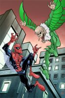 spiderman vs the vulture by HEROBOY