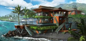 Dr. Draxler's Maui Beach House by FranzowaR