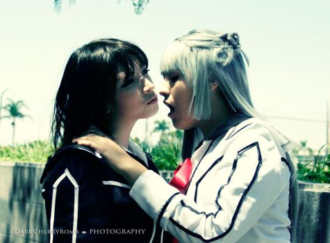 Let me bite you Yuuki... by RoxiiCosplay