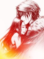Squall x Rinoa hug Logo colors by Emeraldus