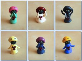 Kingdom Hearts Mushrooms by lonelysouthpaw