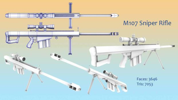 M107 .50 cal Sniper Rifle by CharryCola