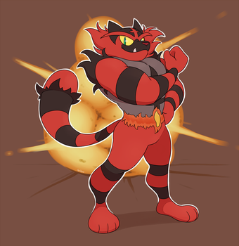 incineroar by YellowHellion