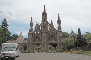 Main Gate to Green-Wood Cemetery by jswis