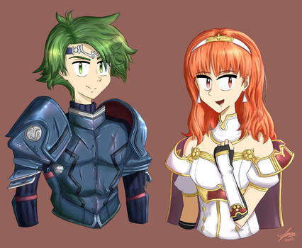 Alm and Celica by thegentlemanowl