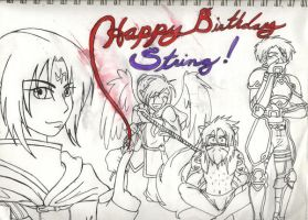 Happy Birthday String, WIP by AngelicDragonElf