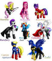 Equestria Meets the Avengers by mistysteel