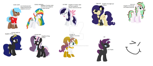 all ponies for the pmv by Poppincandyfun123