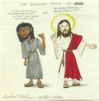 Two Faces Of Jesus by andrewtodaro