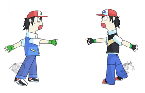 Ash - shocked D: by totodos