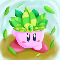 Leaf Kirby by dreamingsandwich