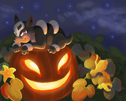Halloween Houndour ^^ by TamilaB