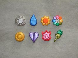 Pokemon Gym Badges by Dragomiresti