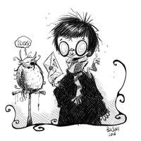 Harry and Hedwig by basschel