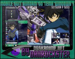 Setsuna F Seiei Theme Windows 7 by Danrockster