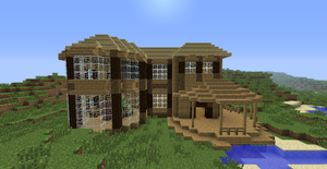 Minecraft house (1) by Mylithia