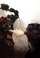 Ork vs. Crimson Fist 1-1 by DavidSondered