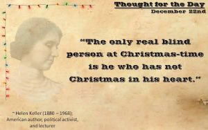 Thought for the Day - December 22nd by ebturner