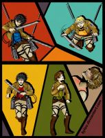 Marauders x Attack on Titan crossover by byLau