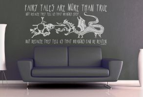 Fairy Tales Are More Than True Wall Decal by GeekeryMade