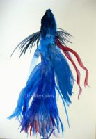 Betta Fish Painting I by JenniferTheFirst