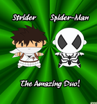 Chibi Strider and Spider-man by Dyz-69
