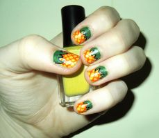 Pineapple Nails by RoxysSlushPuppie