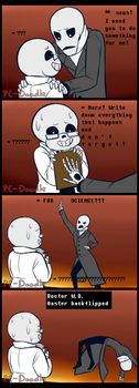How Gaster Shattered Across Time and Space by PC-Doodle