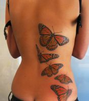 butterfly tattoo finished by Magicmufinelf