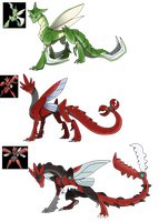 Pokemon Themed Dragon adopts Set 1 03 Closed by Eternity9