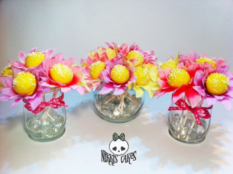 Cake Pop Flower Bouquets by Corpse-Queen