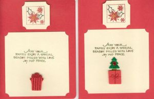Red Holly Christmas Card- Inside by RavingPink